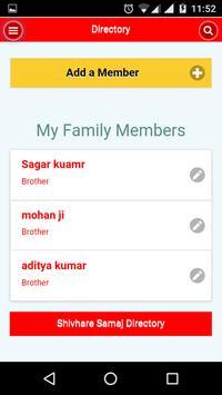Shivhare Samaj Directory apk screenshot