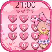 Pink Love Lock Screen Theme icon