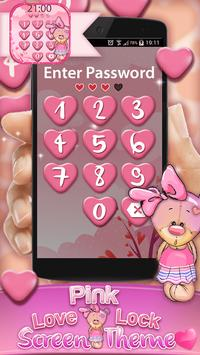 Pink Love Lock Screen Theme screenshot 3