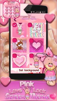 Pink Love Lock Screen Theme screenshot 5