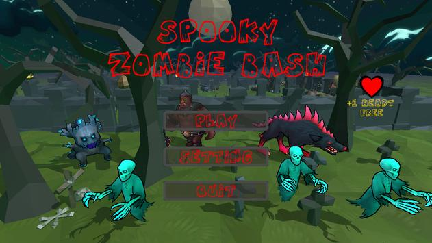 Spooky Zombie Bash poster