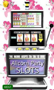 3D Alicorn Party Slots - Free poster