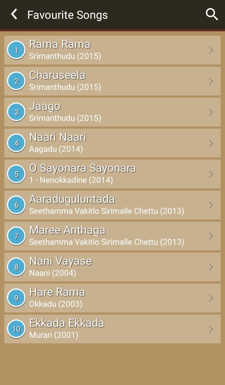 Hit Mahesh Babu Songs Lyrics for Android - APK Download