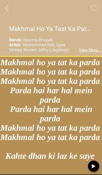 Hit Mohammed Rafi Songs Lyrics apk screenshot
