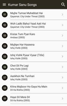 Hit Kumar Sanu Songs Lyrics screenshot 1