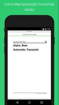 Cara Memperbaiki Transmisi Matic screenshot 1