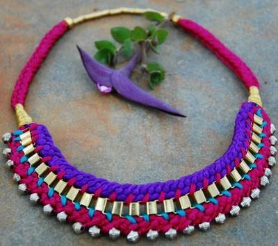 Silk Thread Necklace screenshot 1