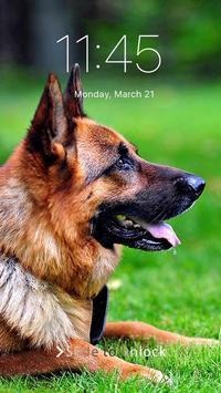German Shepherd Dog Pattern Lock Screen screenshot 1