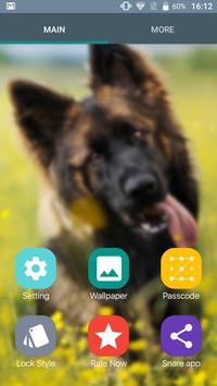 German Shepherd Dog Pattern Lock Screen screenshot 4