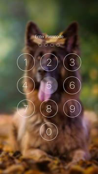 German Shepherd Dog Pattern Lock Screen screenshot 5