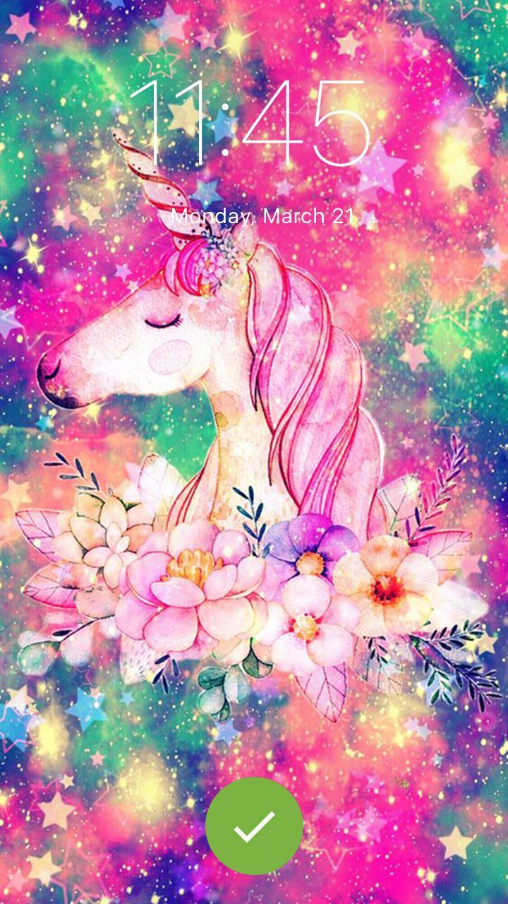 Unicorn Galaxy Wallpaper Girls Screenlock For Android Apk
