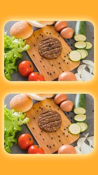 Spot The Differences - Delicious Food Pictures poster
