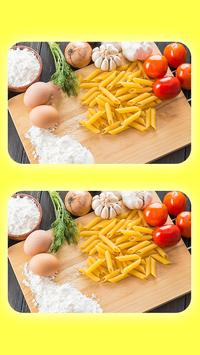 Spot The Differences - Delicious Food Pictures screenshot 1