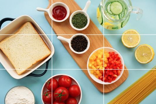 Tile Puzzles - Slide Puzzles Food poster