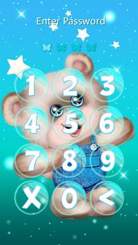 Cute Girly Keypad Lock Screen apk screenshot