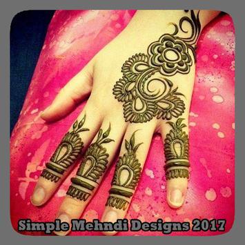 Simple Mehndi Designs 2017 poster