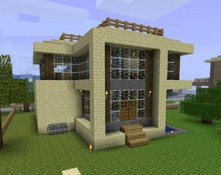 Simple Modern House Design for Minecraft poster