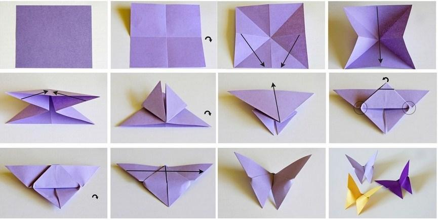 HOW TO MAKE AN EASY ORIGAMI BUTTERFLY. — Gathering Beauty | 435x865