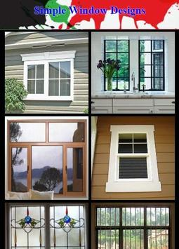 Simple Window Designs poster