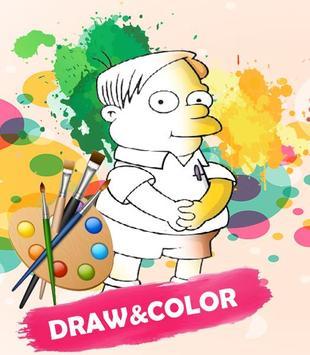 Simpson Coloring Game apk screenshot