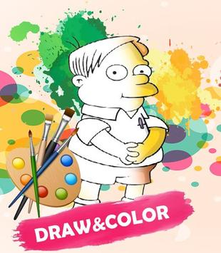 Simpson Coloring Game poster