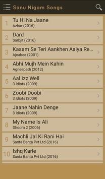 Hit Sonu Nigam Songs Lyrics screenshot 1