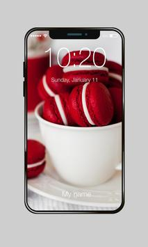 Delicious Sweet Macaron Snowflakes Lock Screen poster