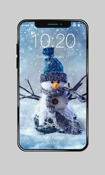 Funny Snowman On Snowboard PIN Lock poster
