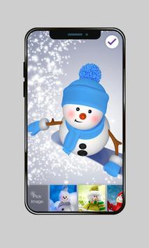 Funny Snowman On Snowboard PIN Lock apk screenshot