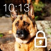 German Shepherd Faithful Dog Lock Screen Password icon