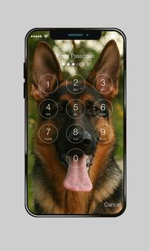 German Shepherd Faithful Dog Lock Screen Password apk screenshot
