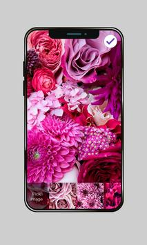 Pink Flowers For Girls Valentine Love PIN Lock poster