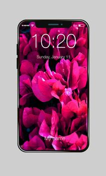 Pink Flowers For Girls Valentine Love PIN Lock screenshot 2