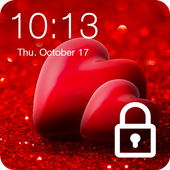 Pink Heart Valentine Day Sweet Love PIN Lock icon