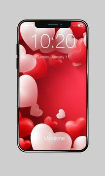 Pink Heart Valentine Day Sweet Love PIN Lock poster