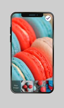 Sweet Red Blue Macaron Wallpaper AppLock Security poster