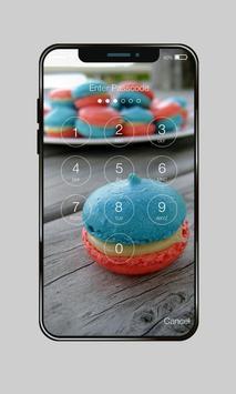 Sweet Red Blue Macaron Wallpaper AppLock Security apk screenshot