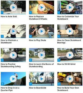 Skateboarding Skills poster