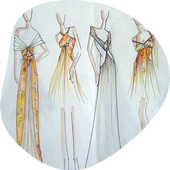 Sketch Fashion Design icon