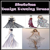 Sketches Design Evening Dress icon