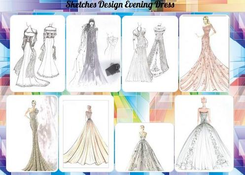 Sketches Design Evening Dress poster