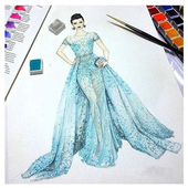 Sketches Of Fashion Design icon