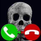 skull fake call icon