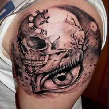 Skull Tattoo Design For Men screenshot 2