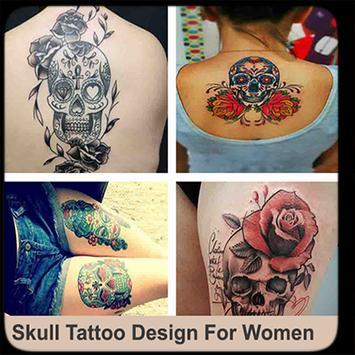 Skull Tattoo Design For Women poster