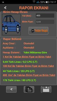 Araç Yakıt Ölçümü ve Hesabı apk screenshot