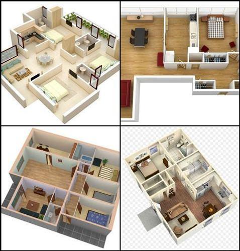 3D Pequena Casa Plano Idea Para Android