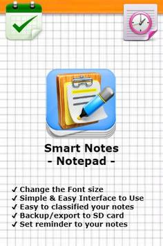 Smart Notes - Notepad poster