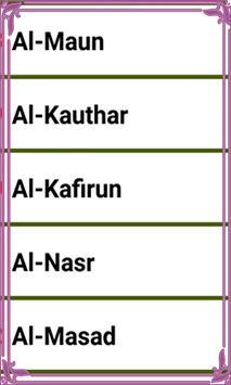 Last 15 Surah Quran screenshot 3