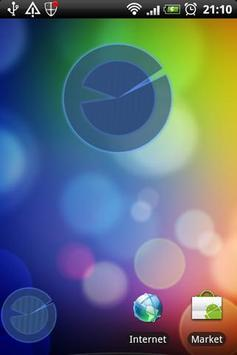 Polarizer Analog Clock: Blue screenshot 1